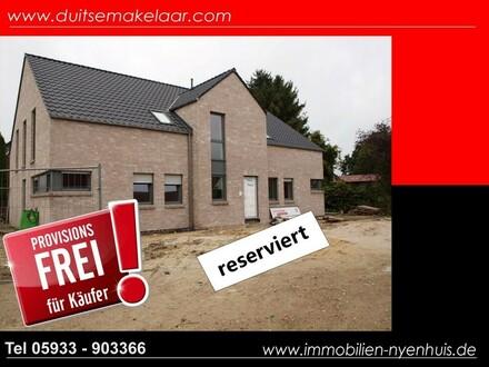 Neubau Oberwohnung mit Balkon ** Zentrum Lathen OG links ** provisionsfrei für den Käufer