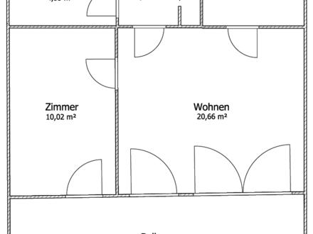 Gepflegte 2 Zimmer Wohnung mit Aussicht