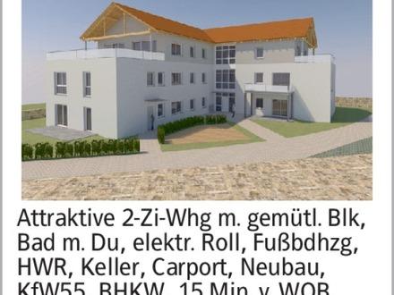Attraktive 2-Zi-Whg m. gemütl. Blk, Bad m. Du, elektr. Roll, Fußbdhzg,...