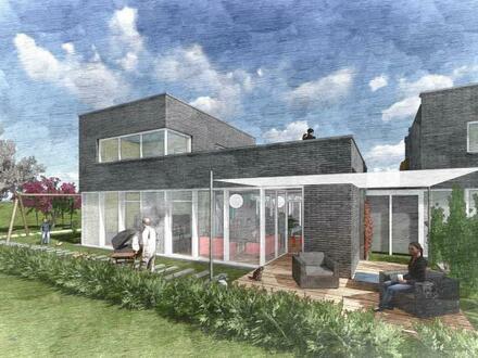 Außergewöhnliche Architektur! Neubau - Doppelhaushälfte mit Carport und Abstellraum in Blomberg