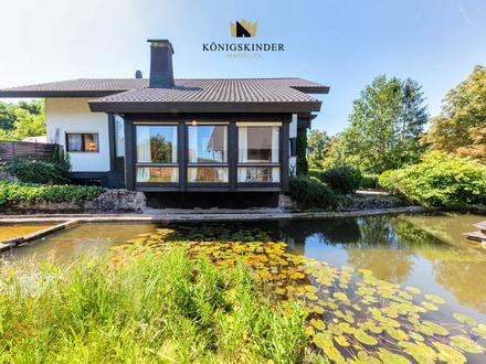Einmalige Gelegenheit - Architektenhaus mit Märchengarten samt Swimmingpool in Erholungsgebiet