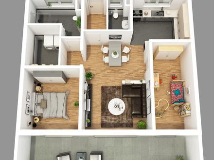 Grundriss 3 Zimmerwohnung