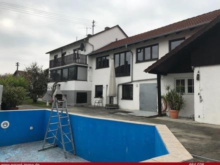 Einfamilienhaus mit Gewerbeanbau in Reicherstshofen