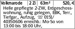 BS-Volkmarode, helle gepflegte 2-ZW