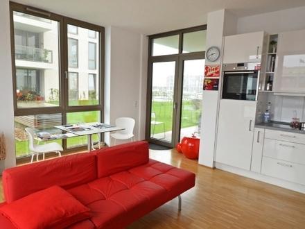 Oceon Living - 3-Zimmer-Neubauwohnung mit Wasserblick, Terrasse und Gartenanteil