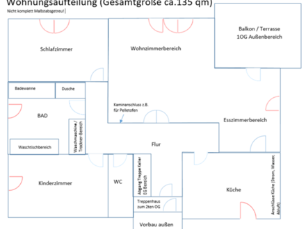 3 Zimmer Wohnung Metten, 1OG, Garten, Altbau
