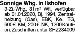 Sonnige Whg in Ilshofen