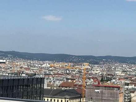 QBC - Quartier Belvedere Central, 11. OG - Terrasse mit Wienblick