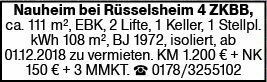 4-Zimmer Mietwohnung in Nauheim (64569)