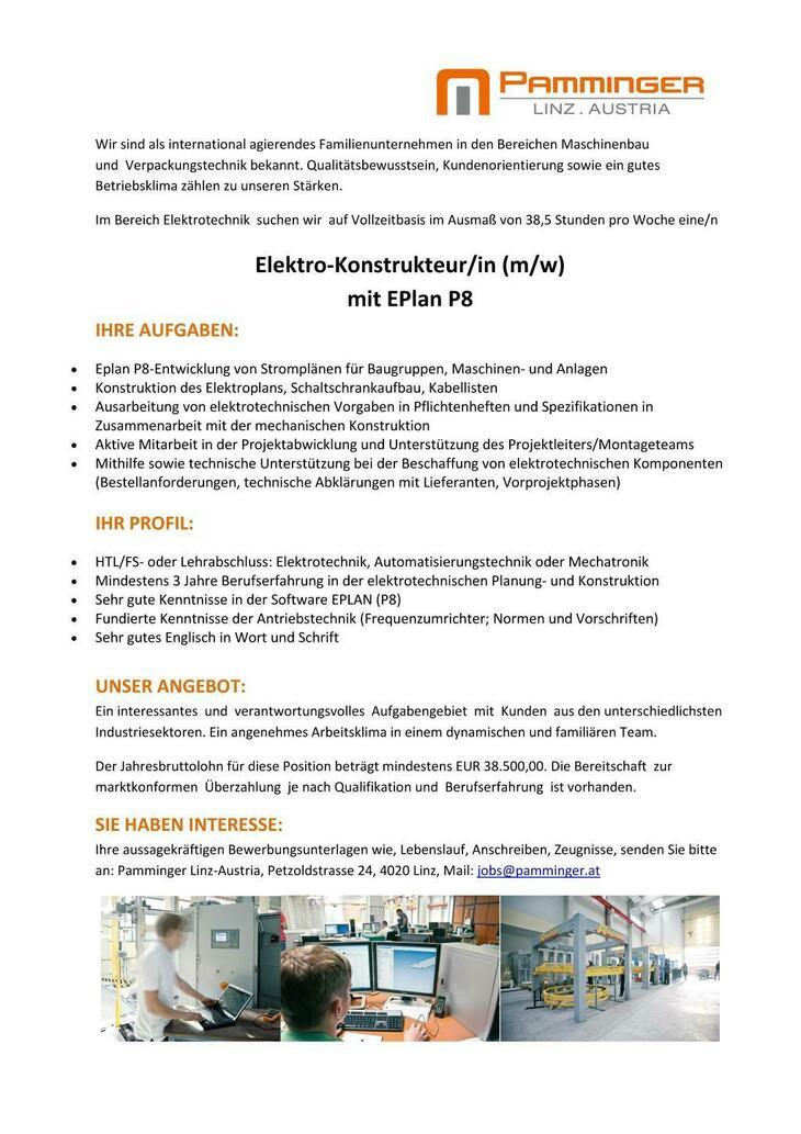Eplan P8-Entwicklung von Stromplänen für Baugruppen, Maschinen- und Anlagen Konstruktion des Elektroplans, Schaltschrankaufbau, Kabellisten
