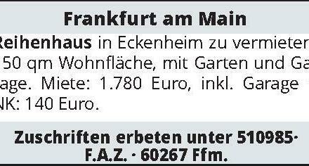 Frankfurt am Main Reihenhaus