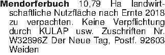Mendorferbuch 10,79 Ha landwir...