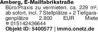 Amberg, E-MailfabrikstraßeBüro...