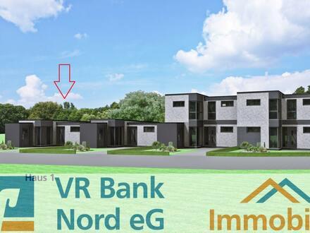 Neubau eines ebenerdigen Gartenhofhauses (Haus 1) im KfW 40 Standard
