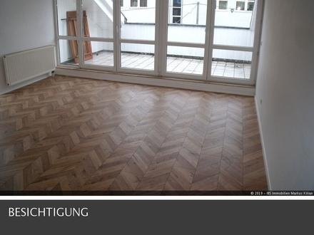 In der Ulmer Weststadt gelegene 2-Zimmer-Wohnung mit Dachterrasse.