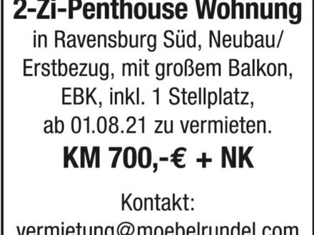 2-Zi-Penthousewohnung in Ravensburg Südstadt zu vermieten