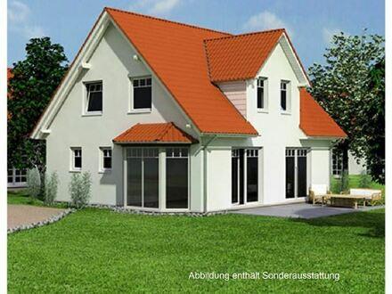 Einfamilienhaus mit Erker und bodentiefen Fenstern