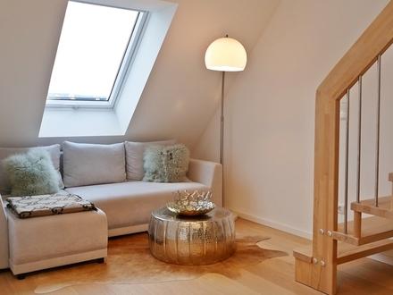 Haus im Haus! Traumhafte neuwertige 5 Zi. Maisonette-Wohnung mit zwei Bädern, Dachterrasse & Lift