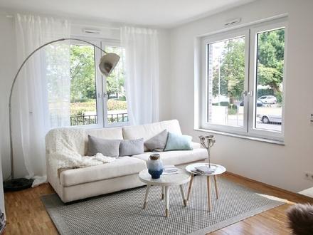 Neubau/Erstbezug: WG-geeignete 5-Zimmer-Wohnung mit Loggia und zwei Bädern
