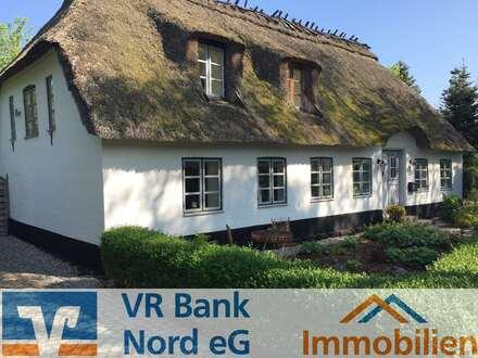 Stilvolles Reetdachhaus auf sonnigem Grundstück