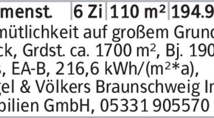 6-Zimmer Haus in Wolfenbüttel (38327) 110m²
