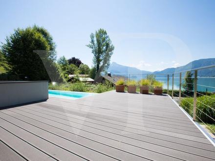 Moderne Villa am Mondsee mit Badeplatz