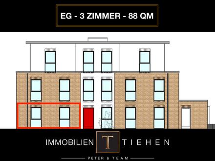 Provisionsfrei: Neubau in der Neustadt - Erdgeschosswohnung in Zentrumsnähe! 3 Zi., KfW 55, 88 qm!