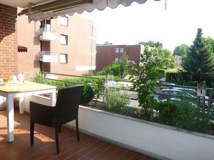 Helle und gepfl. 3-Zimmer-Wohnung mit großer Loggia und Garage GT-Pavenstädt