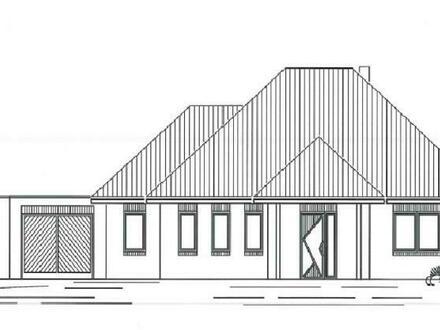 Neubau: Weißer Walmdachbungalow mit Garage in Lähden, Holte-Lastrup
