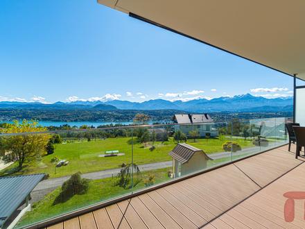 Seeblick Wohnung am Sonnenplateau über Velden mit beeindruckendem Panorama