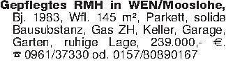 Gepflegtes RMH in WEN/Mooslohe...