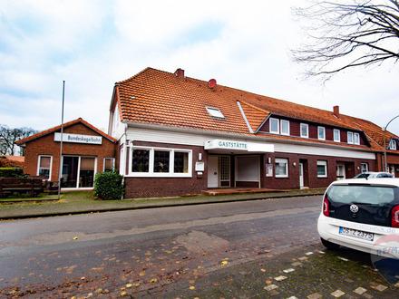Provisionsfrei - Gaststätte mit Kegelbahn, 4 Wohnungen und Baugrundstück