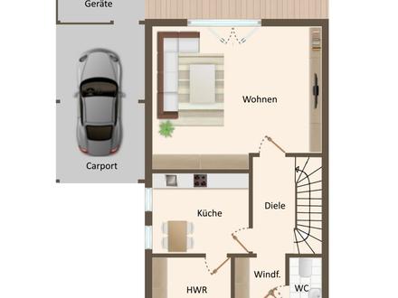 Gepflegte Doppelhaushälfte als Kapitalanlage in familienfreundlicher Lage von Ellenstedt