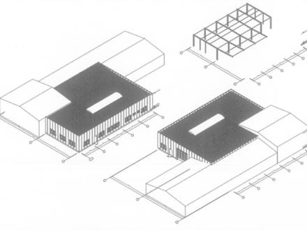 Neubau einer Gewerbehalle mit Büroeinheit - Individuell anpassbar - mit bester Anbindung an die A1