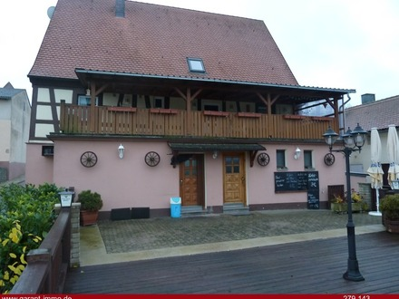 Gemütliche Gaststätte mit Terrasse und Nebengebäuden - Nähe Brombachsee - Pferdehaltung möglich