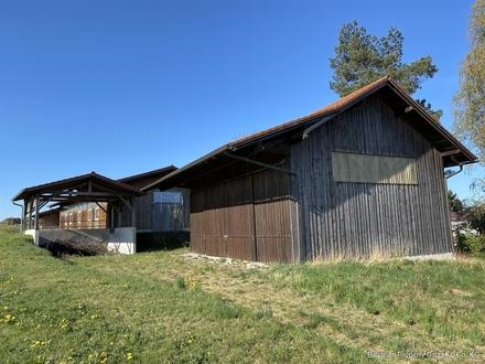 Bei Bogen: Halle + Scheune auf ca. 1.470 m² Grundstück