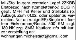 2-Zimmer Mietwohnung in Michelstadt (64720)