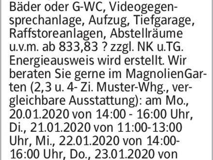 Anzeigentitel Attraktive Neubauwohnung besichtigen! Wohnen 2.0 in den DreiGärten...