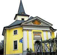 Eine der wenigen runden Kirchen in der Pfalz
