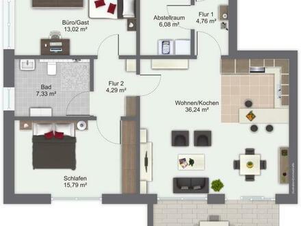 Trau dich zu Hause zu sein! Schicke Erdgeschosswohnung mit pflegeleichtem Garten