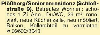 Plößberg/Seniorenresidenz (Sch...