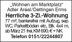Herrliche 3 Zi. Wohnung
