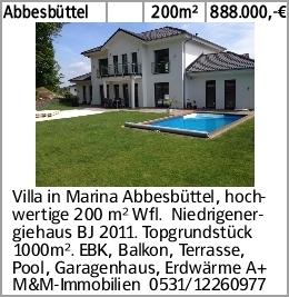 Abbesbüttel 200m² 888.000,-€ Villa in Marina Abbesbüttel, hochwertige...