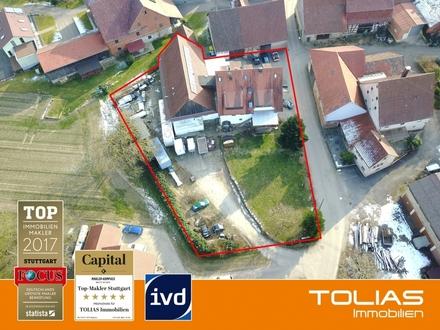 Baugrundstück mit MFH (5 Wohnungen) + Büro + Großküche + Scheune (ggf. neues MFH) + neues EFH/ DH.