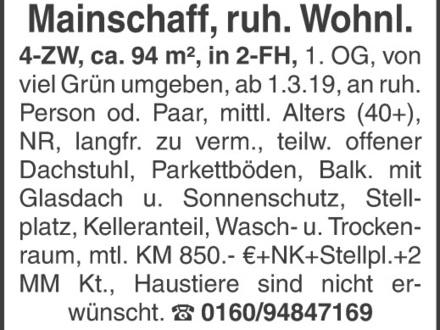 4-ZW, Mainaschaff, ruhige Wohnlage