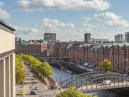 Moderne Neubauwohung mit Panoramablick über die Speicherstadt