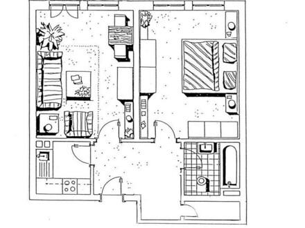 2-Zimmer-Wohnung 54m² mit großer Dachterrasse in 96052 Bamberg-Ost