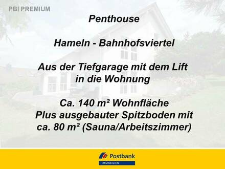 Penthouse, Lift, Tiefgarage, Bahnhofnähe, Bj. 1997