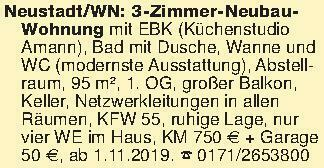 Neustadt/WN: 3-Zimmer-NeubauWo...