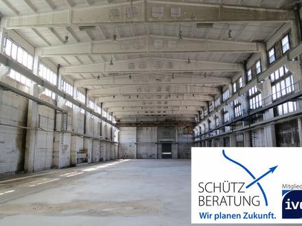 DEMNÄCHST wieder frei: Großzügige Halle mit Erweiterungsmöglichkeit und Außenflächen!